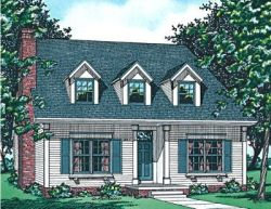 Early-American Style Home Design Plan: 10-551