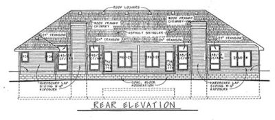 Rear Elevation Plan: 10-572
