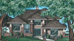 Contemporary Style Home Design Plan: 10-573