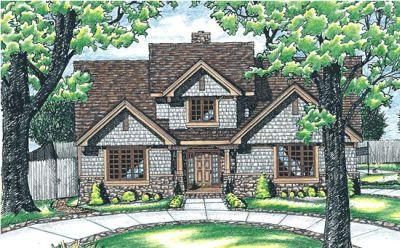 Craftsman Style Home Design Plan: 10-574