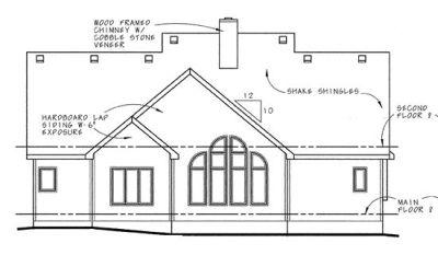 Rear Elevation Plan: 10-574