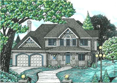 Country Style Home Design Plan: 10-578
