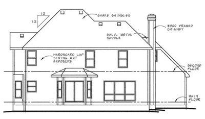 Rear Elevation Plan: 10-578