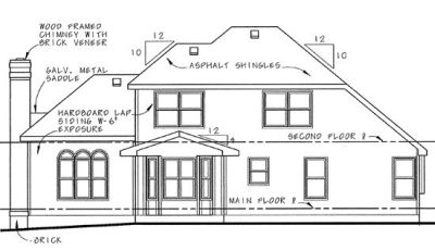 Rear Elevation Plan: 10-579