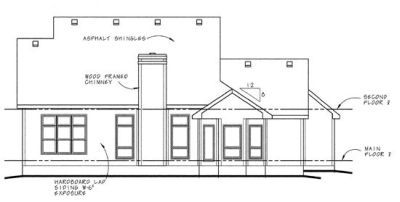 Rear Elevation Plan: 10-580