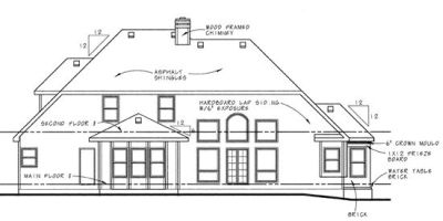 Rear Elevation Plan: 10-582
