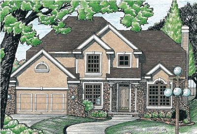 Traditional Style Home Design Plan: 10-583