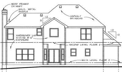 Rear Elevation Plan: 10-583