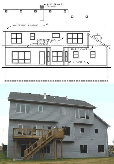 Rear Elevation Plan: 10-584