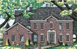Early-American Style Floor Plans Plan: 10-584