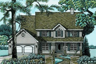 Country Style Floor Plans Plan: 10-585