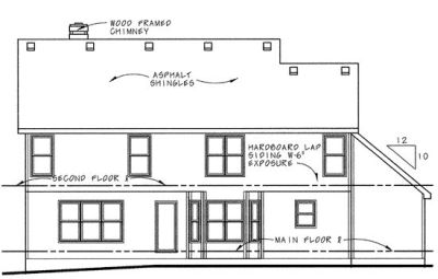Rear Elevation Plan: 10-585