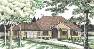 Traditional Style Home Design Plan: 10-586