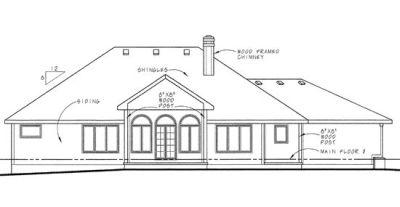 Rear Elevation Plan: 10-586