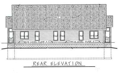 Rear Elevation Plan: 10-587
