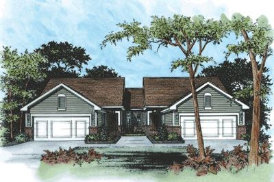 Traditional Style Home Design Plan: 10-588