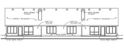 Rear Elevation Plan: 10-589