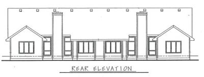 Rear Elevation Plan: 10-591