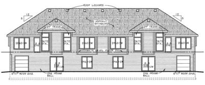 Rear Elevation Plan: 10-592