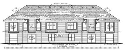 Rear Elevation Plan: 10-593
