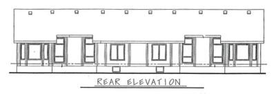 Rear Elevation Plan: 10-596