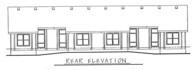 Rear Elevation Plan: 10-598