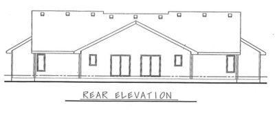 Rear Elevation Plan: 10-599