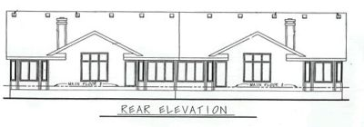 Rear Elevation Plan: 10-600