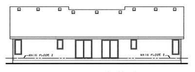 Rear Elevation Plan: 10-603