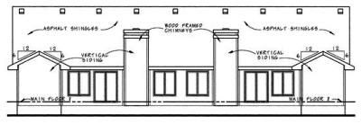 Rear Elevation Plan: 10-604
