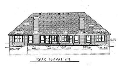 Rear Elevation Plan: 10-605