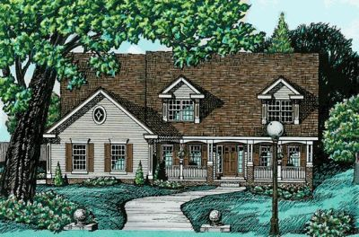 Country Style Floor Plans Plan: 10-607