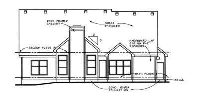Rear Elevation Plan: 10-607
