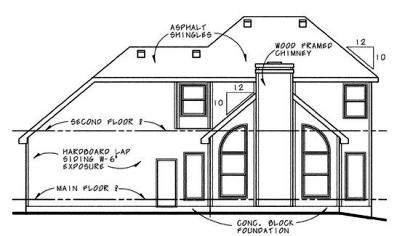 Rear Elevation Plan: 10-608