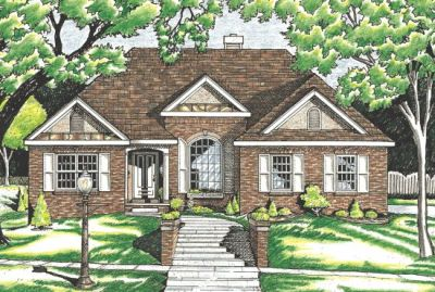 Traditional Style Home Design Plan: 10-609