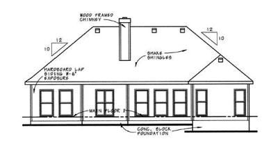 Rear Elevation Plan: 10-609