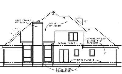 Rear Elevation Plan: 10-610