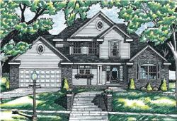Traditional Style Home Design Plan: 10-610
