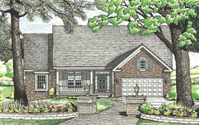Country Style Home Design Plan: 10-611