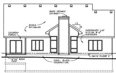 Rear Elevation Plan: 10-611