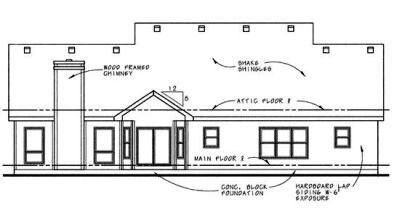 Rear Elevation Plan: 10-614