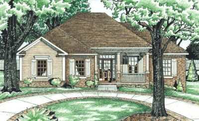 Traditional Style Home Design Plan: 10-616