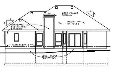 Rear Elevations Plan:10-616