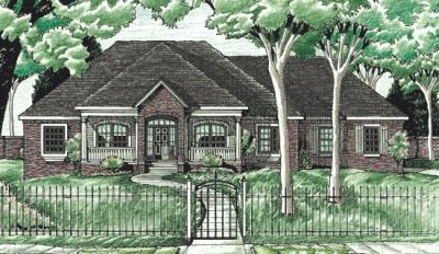 Traditional Style Home Design Plan: 10-619