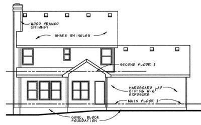 Rear Elevation Plan: 10-620