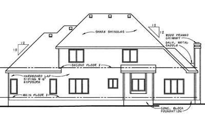 Rear Elevation Plan: 10-621