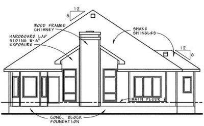 Rear Elevation Plan: 10-622