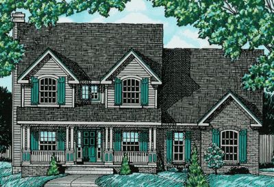 Country Style Home Design Plan: 10-623