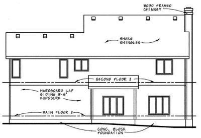 Rear Elevation Plan: 10-623