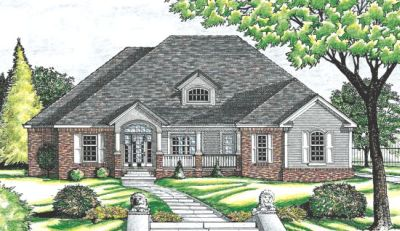 Traditional Style Home Design Plan: 10-624